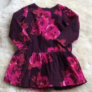 Gap floral corduroy dress